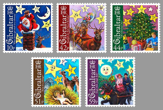 网络邮报 直布罗陀2008年圣诞节邮票 蔡秉旋图片
